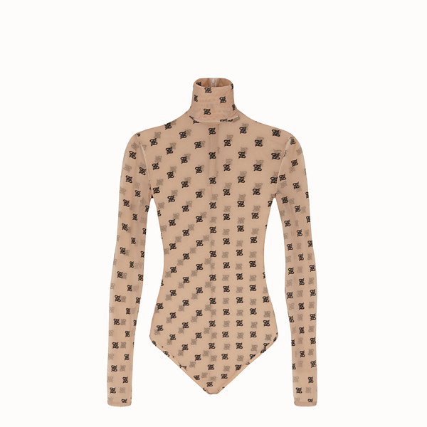 FENDI BODY - Beige tulle bodysuit - view 1 small thumbnail