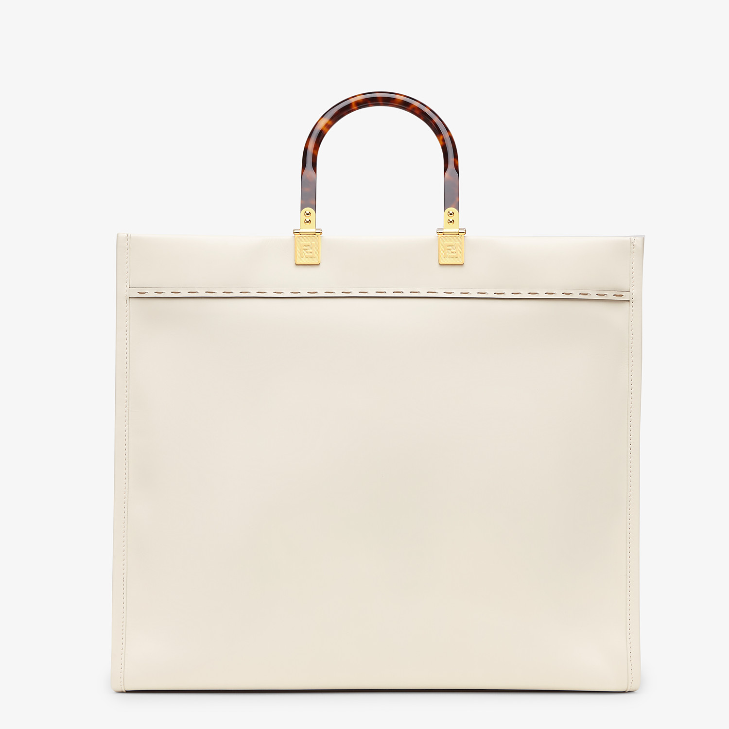 FENDI SUNSHINE SHOPPER - White leather shopper - view 4 detail