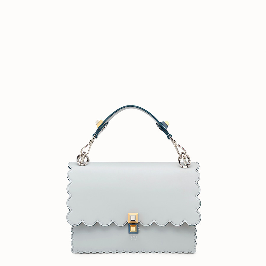FENDI KAN I - Grey leather bag - view 1 detail
