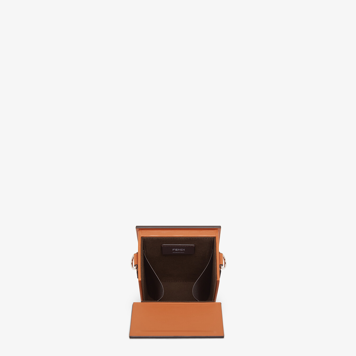 FENDI VERTICAL BOX - Brown leather bag - view 4 detail