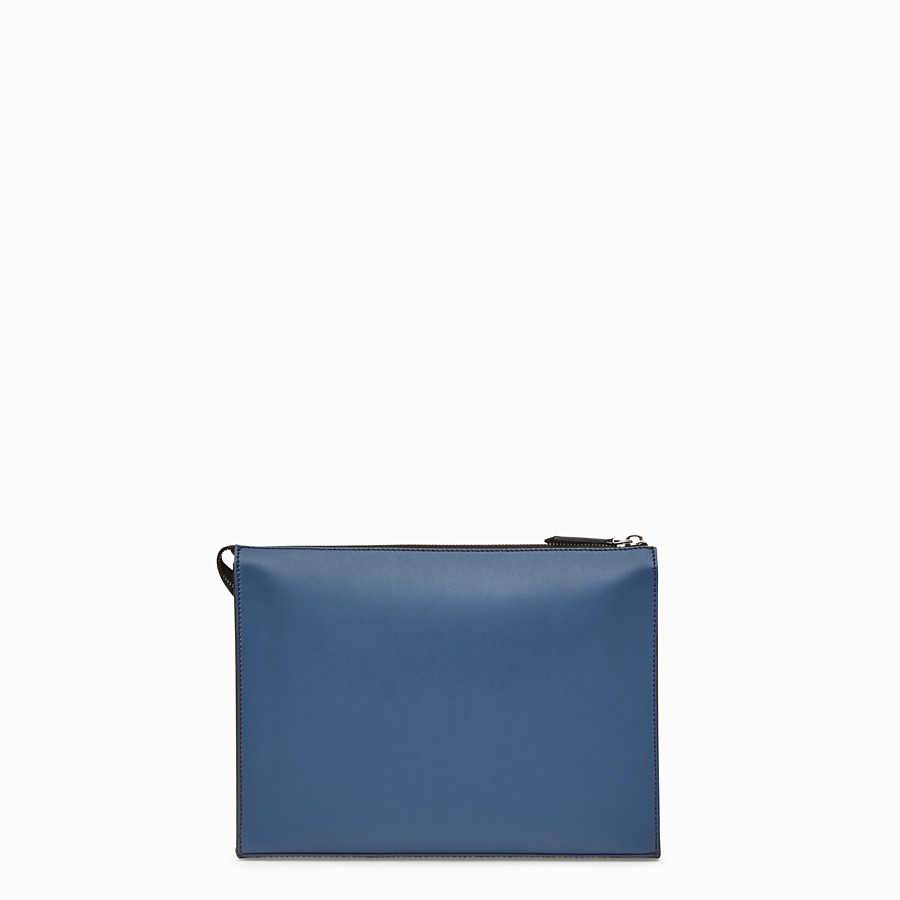 FENDI CLUTCH - Multicolor leather slim pouch - view 3 detail