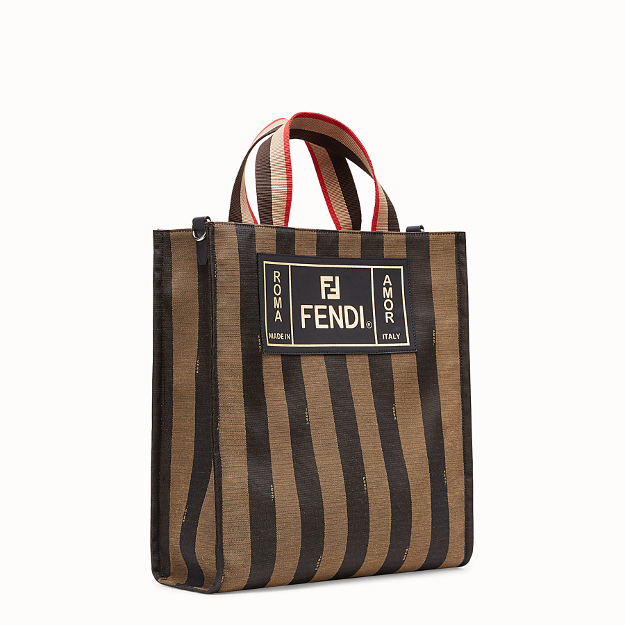 FENDI TOTE - Black canvas bag - view 2 detail