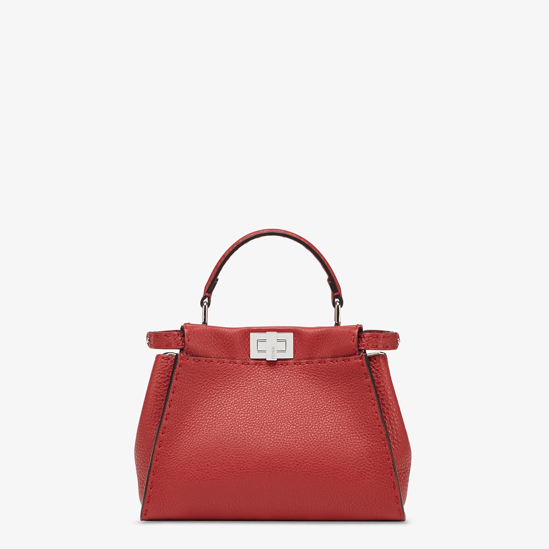 FENDI PEEKABOO ICONIC MINI - Red leather bag - view 1 detail
