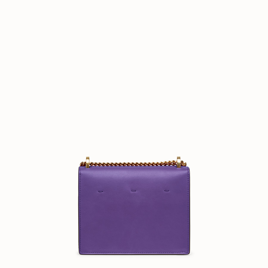 FENDI KAN U SMALL - Purple leather mini-bag - view 4 detail