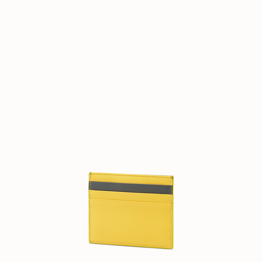 FENDI CARD HOLDER - Two-tone leather card holder - view 2 detail