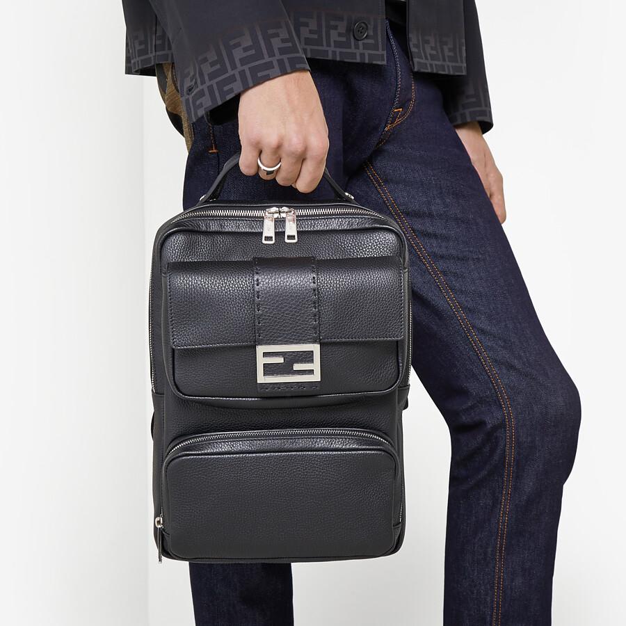 FENDI BACKPACK - Black calfskin backpack - view 6 detail