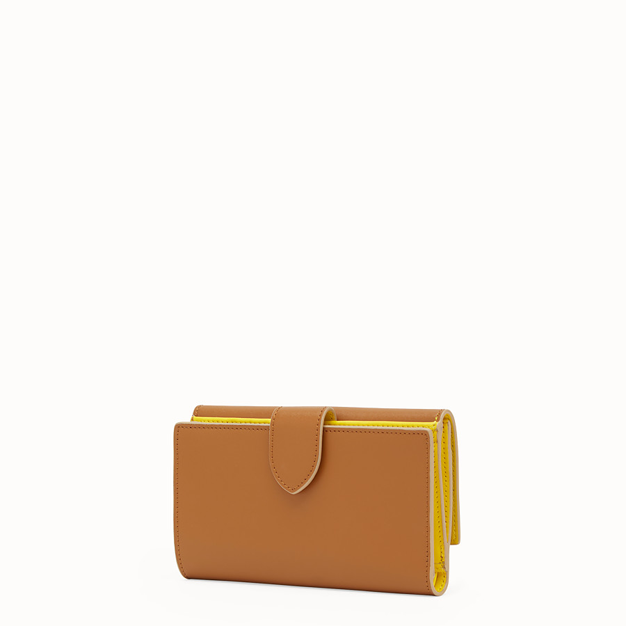 FENDI CONTINENTAL MEDIUM - Two-tone leather wallet - view 2 detail