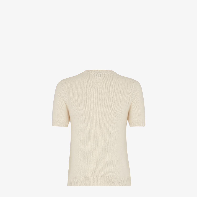 FENDI SWEATER - White cashmere sweater - view 2 detail