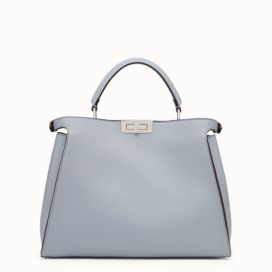 FENDI PEEKABOO ESSENTIAL - Slate and dark blue leather handbag - view 3 detail