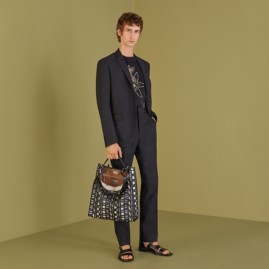 FENDI PANTS - Pants in black cotton, silk and wool - view 4 detail