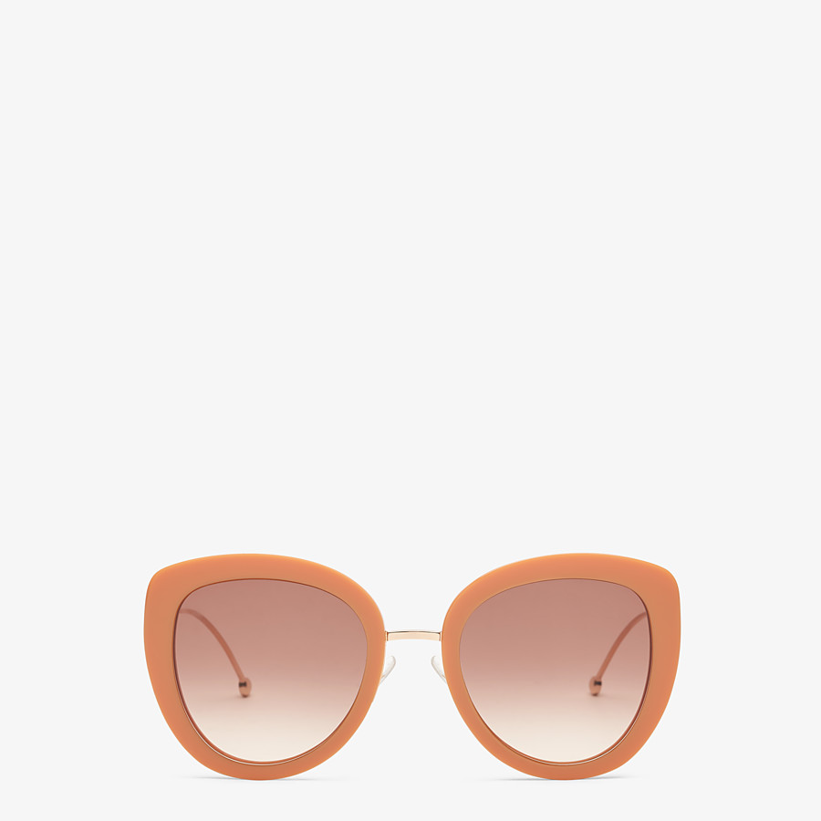 FENDI F IS FENDI - Orange acetate and metal sunglasses - view 1 detail