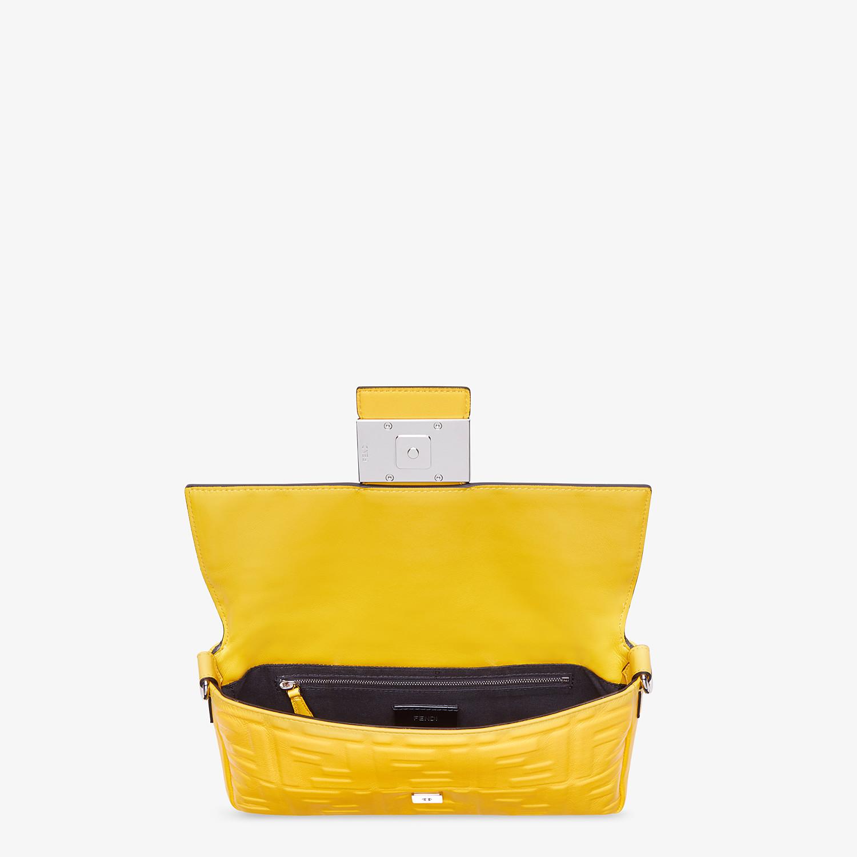 FENDI BAGUETTE - Yellow nappa leather bag - view 5 detail