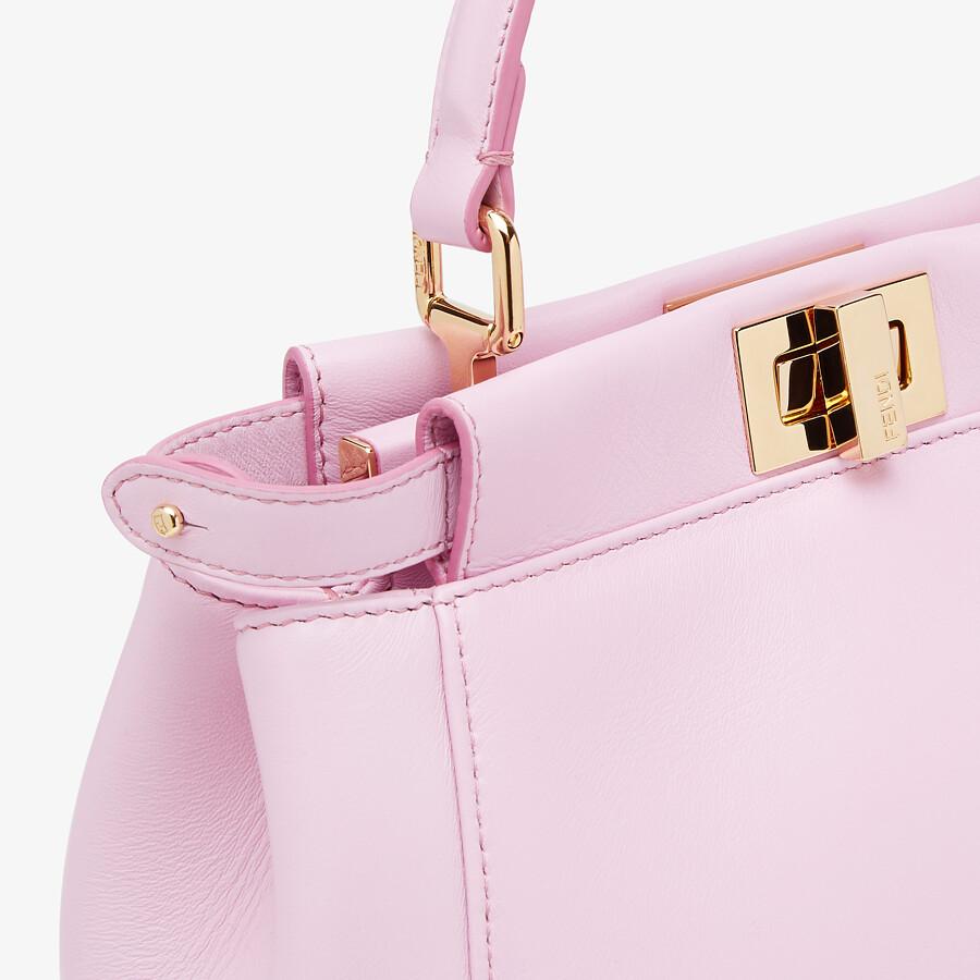 FENDI PEEKABOO MINI - Pink nappa leather bag - view 5 detail