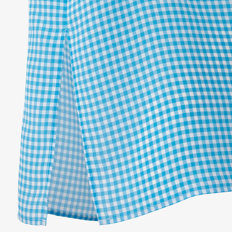 FENDI SHIRT - Check silk shirt - view 3 detail