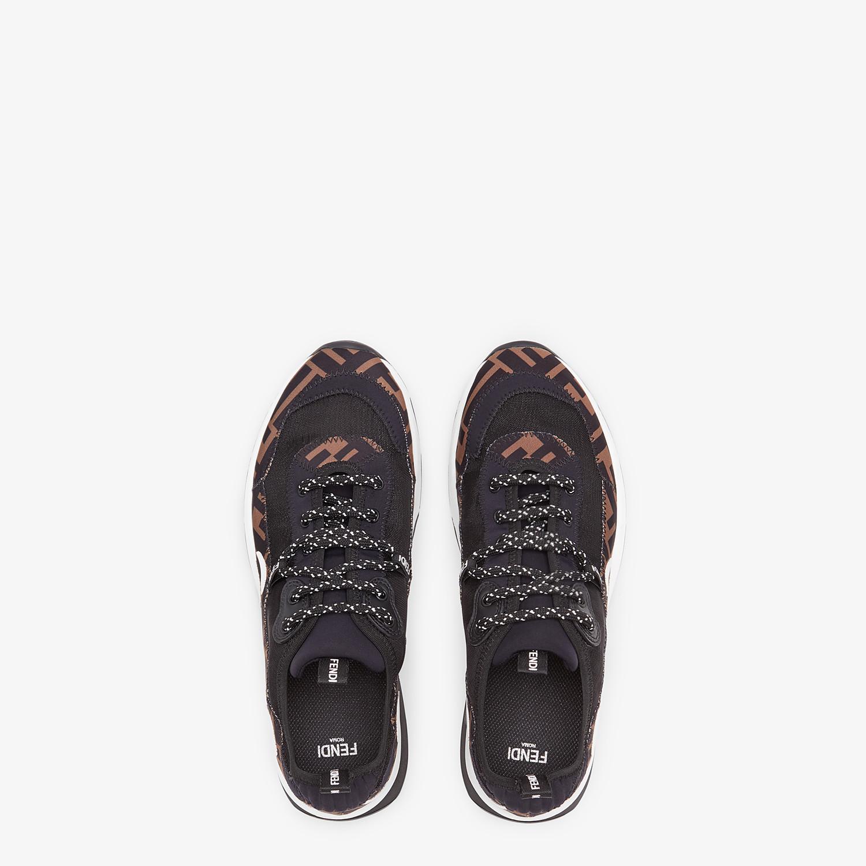 FENDI SNEAKERS - Brown technical mesh sneakers - view 4 detail