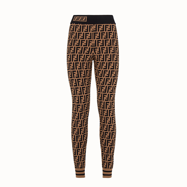 FENDI LEGGINGS - Leggings in tessuto multicolor - vista 1 thumbnail piccola