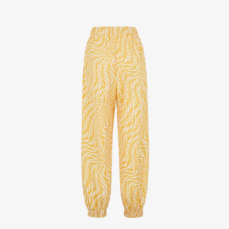 FENDI PANTS - Yellow nylon trousers - view 2 detail