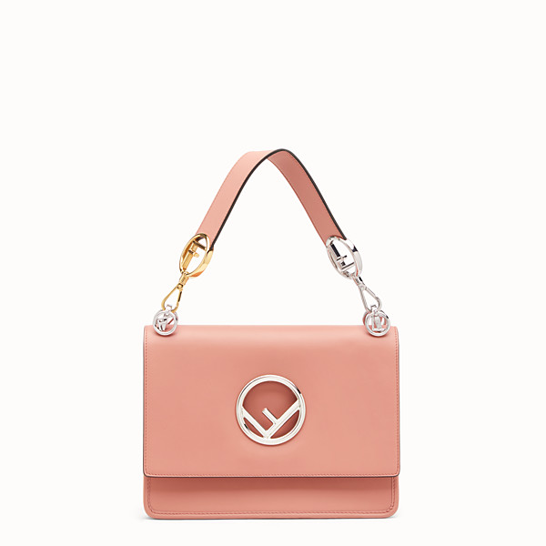 FENDI KAN I LOGO - Pink leather bag - view 1 small thumbnail