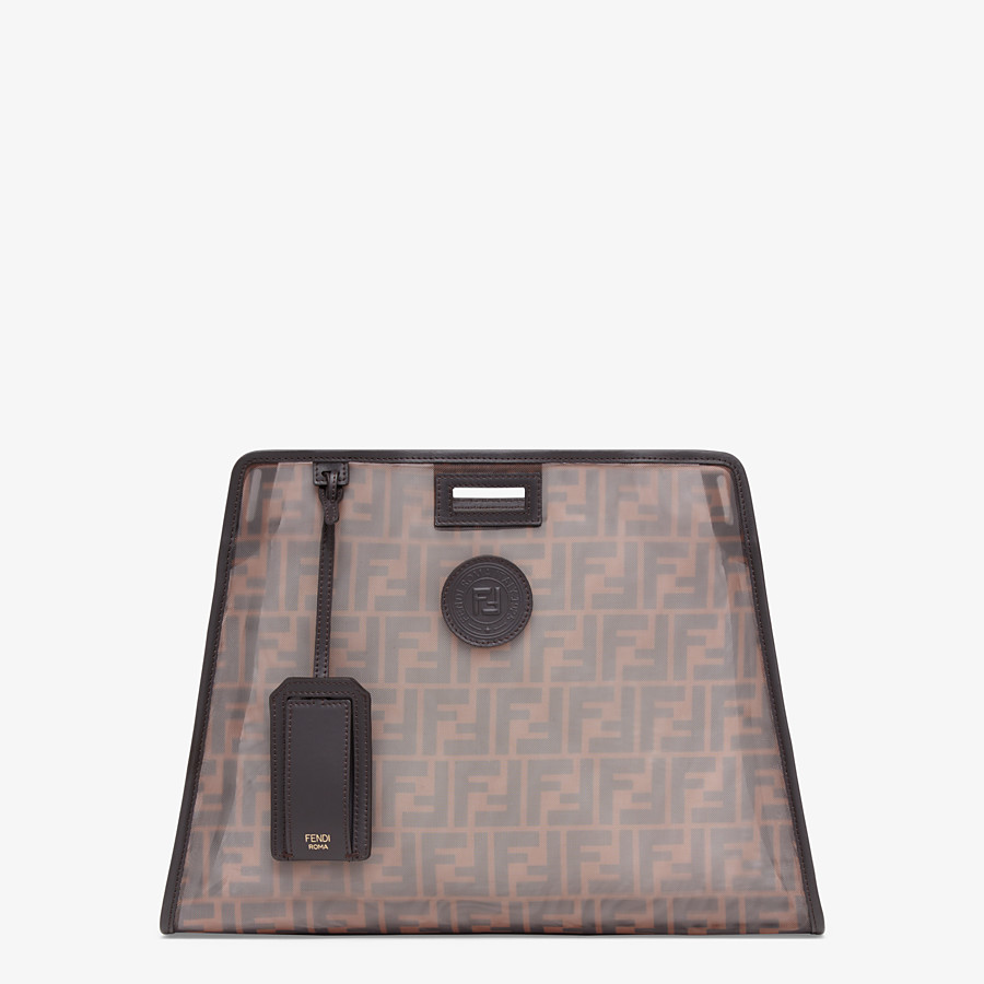 FENDI PEEKABOO DEFENDER MOYEN - Coque pour Peekaboo en filet marron - view 1 detail