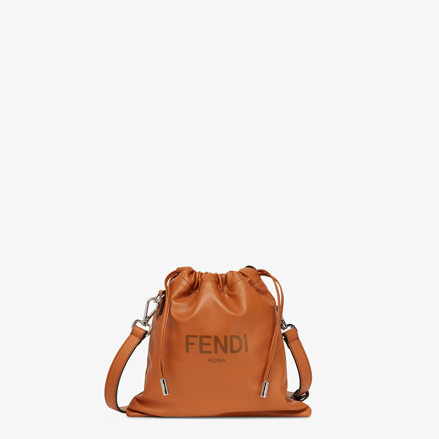 FENDI FENDI PACK SMALL POUCH - Brown leather bag - view 1 detail
