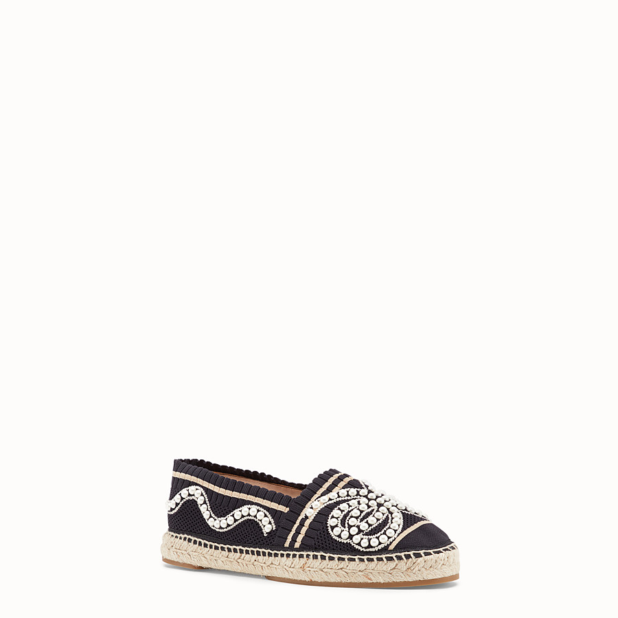 FENDI ESPADRILLES - Black yarn espadrilles - view 2 detail