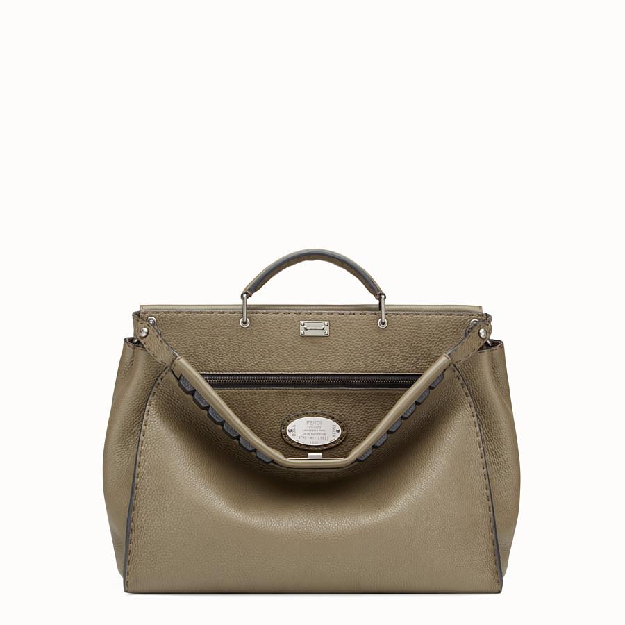 FENDI PEEKABOO - Green leather Selleria handbag - view 1 detail