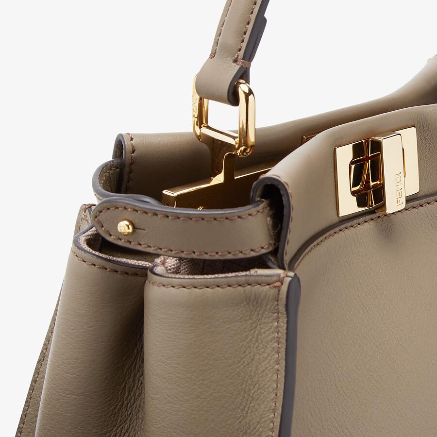 FENDI PEEKABOO MINI - Grey leather bag - view 6 detail