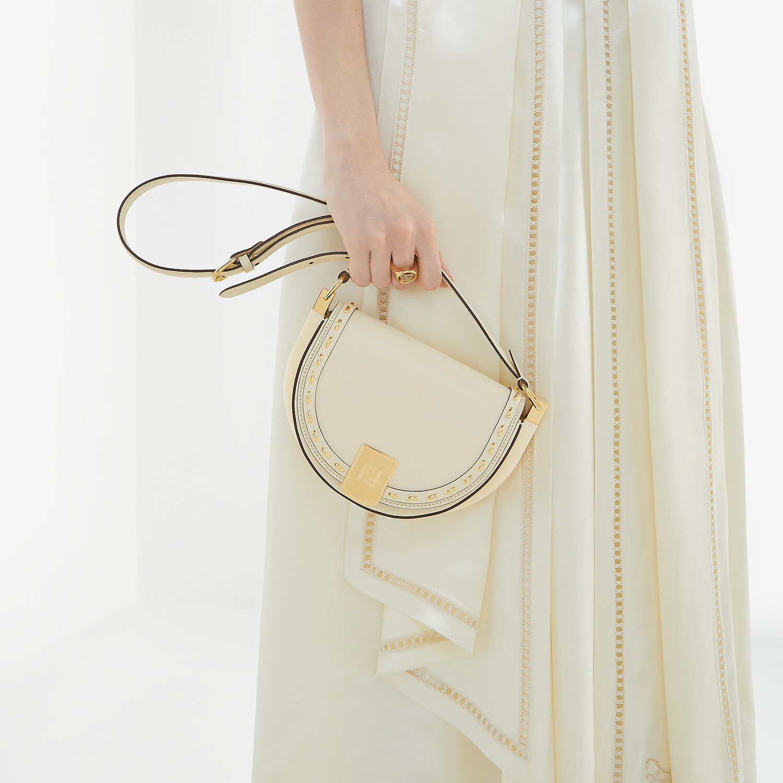 FENDI MOONLIGHT - White leather bag - view 2 detail