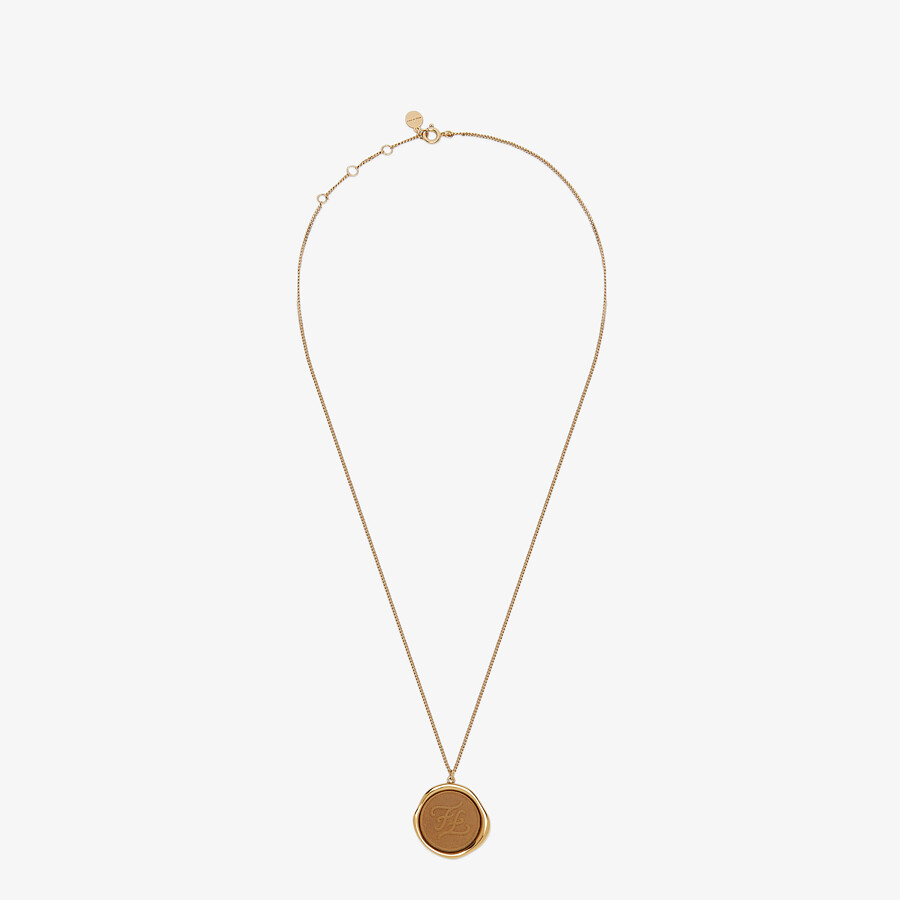 FENDI KARLIGRAPHY NECKLACE - Gold-colored necklace - view 1 detail