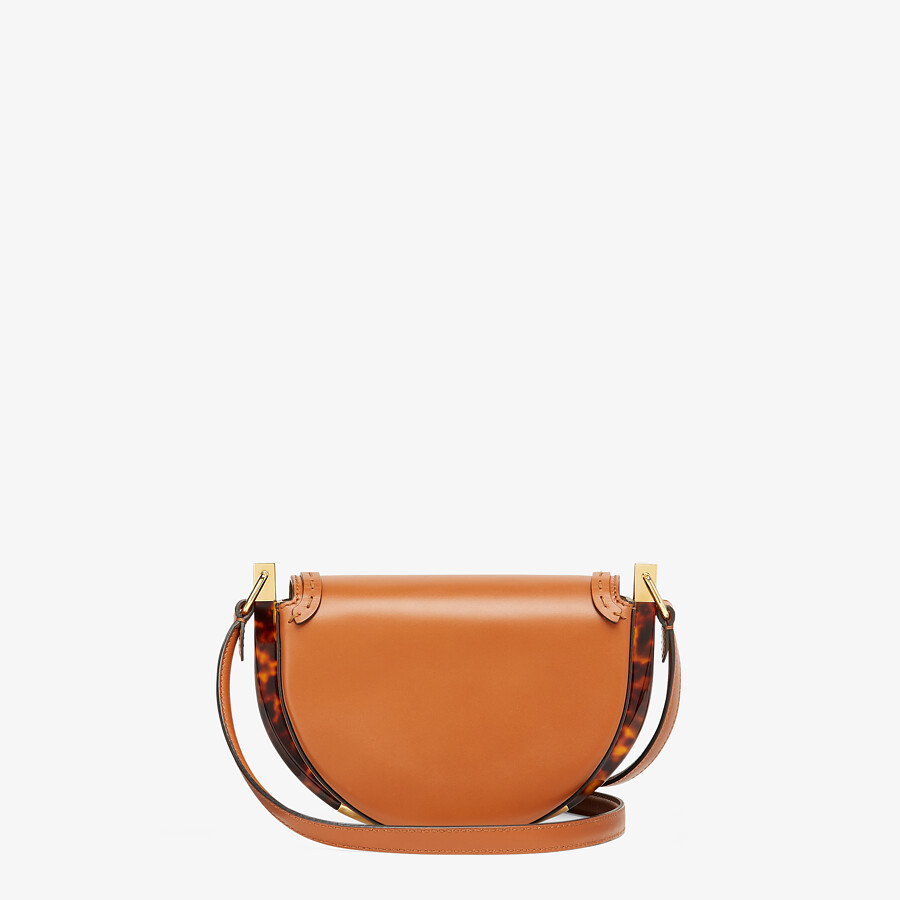 FENDI MOONLIGHT - Brown leather bag - view 4 detail
