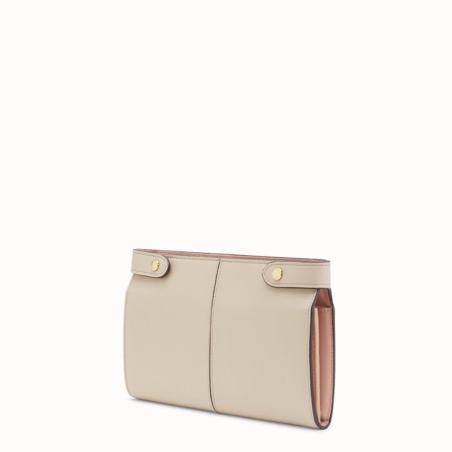 FENDI WALLET - Beige leather wallet - view 2 detail