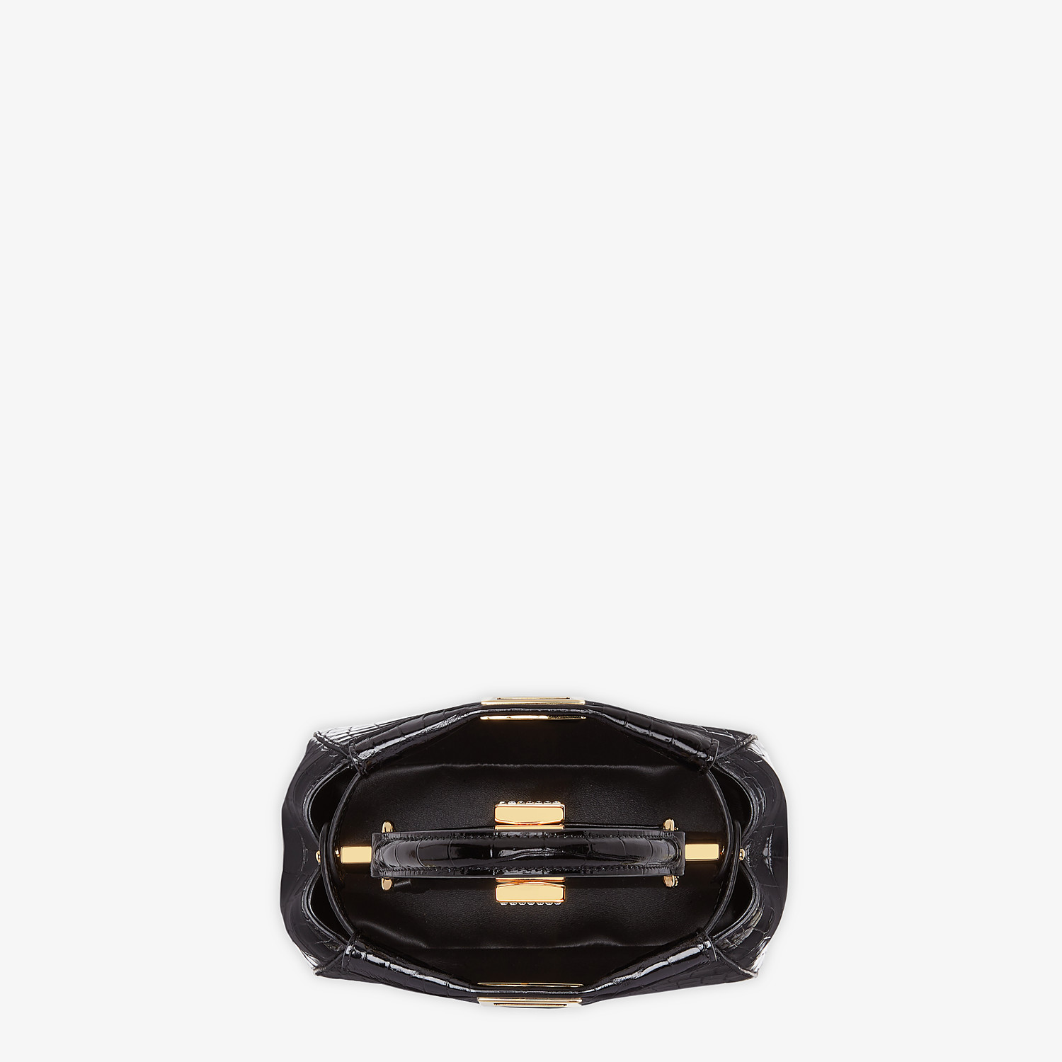FENDI PEEKABOO ICONIC XS - Mini-bag in black crocodile - view 4 detail