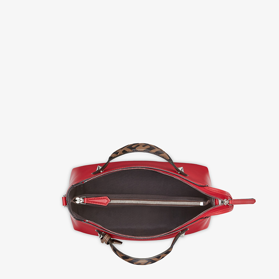 FENDI BY THE WAY MEDIUM - Red leather Boston bag - view 5 detail