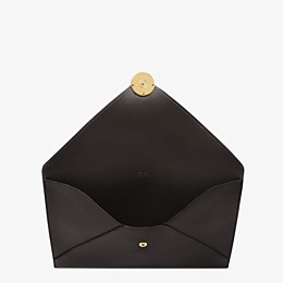 FENDI FLAT POUCH LARGE - Black leather pouch - view 3 thumbnail