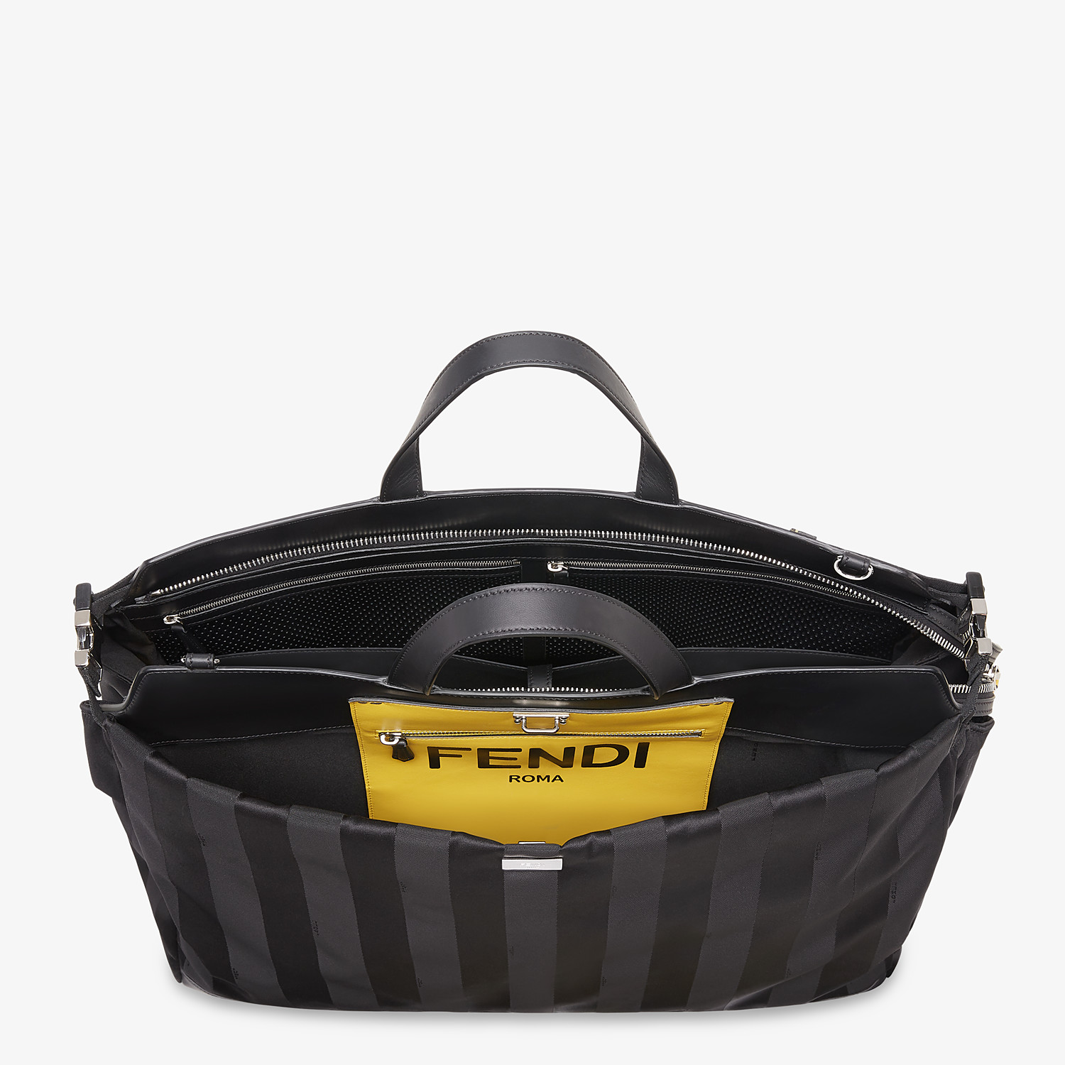 FENDI PEEKABOO ICONIC LARGE - Black nylon bag - view 5 detail