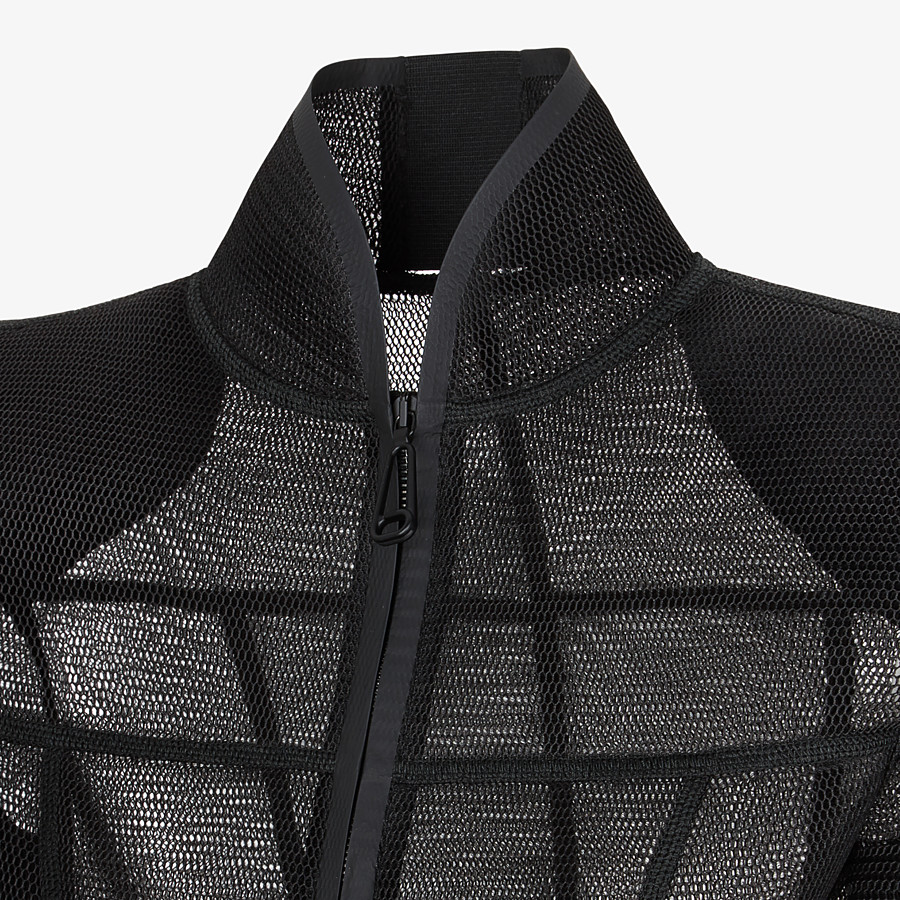 FENDI JACKET - Black micromesh jacket - view 3 detail