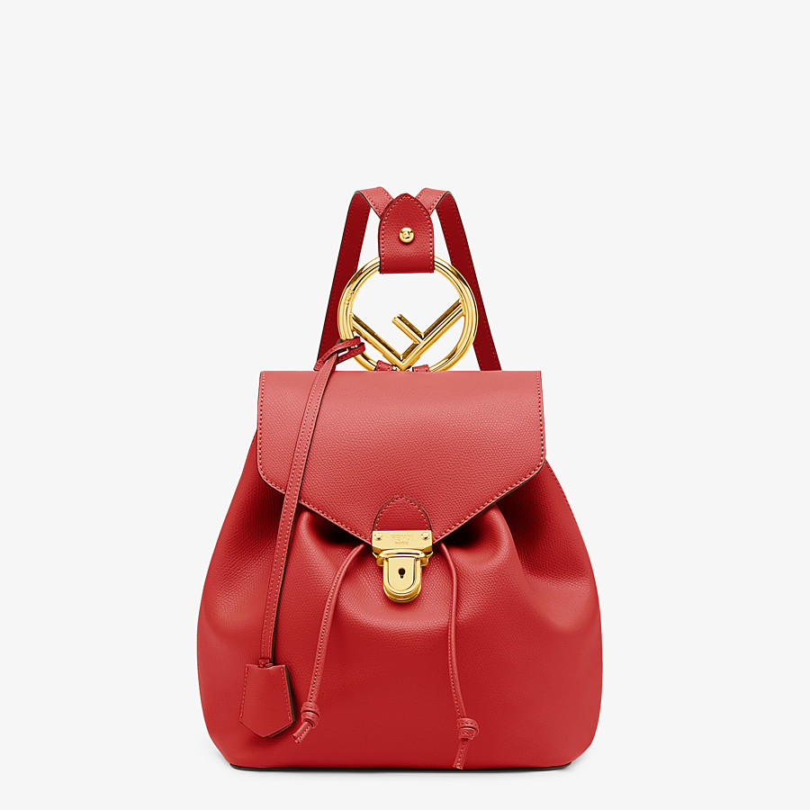 FENDI BACKPACK - Red leather backpack - view 1 detail