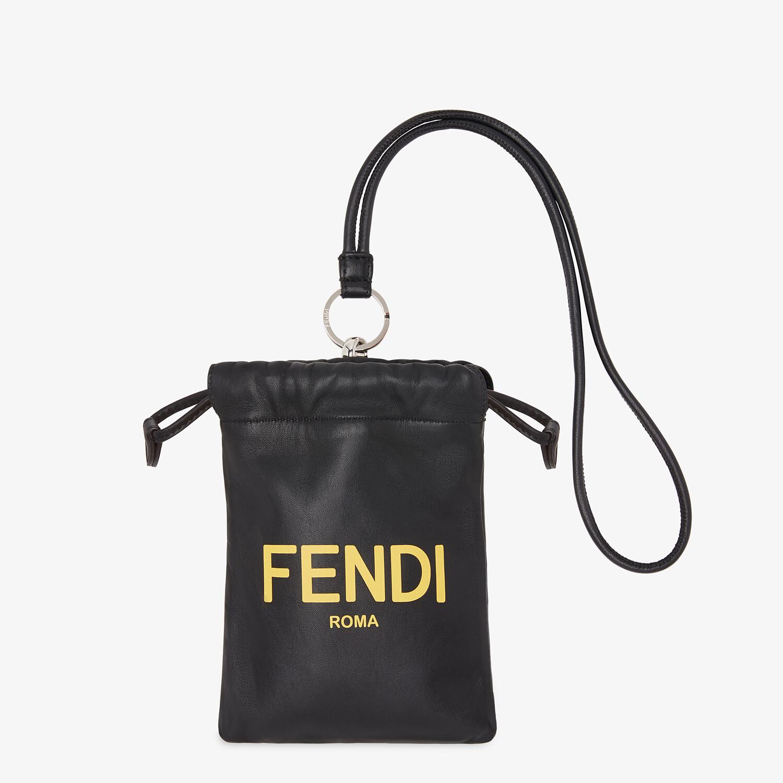 FENDI PHONE POUCH - Black nappa leather pouch - view 1 detail