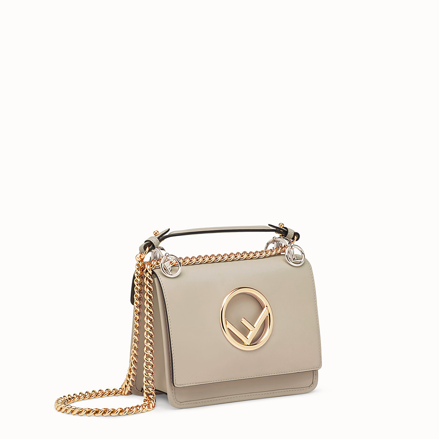 FENDI KAN I F SMALL - Grey leather mini-bag - view 2 detail