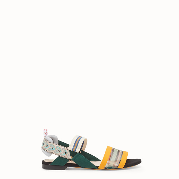 FENDI SANDALS - Multicolour technical mesh flats - view 1 small thumbnail