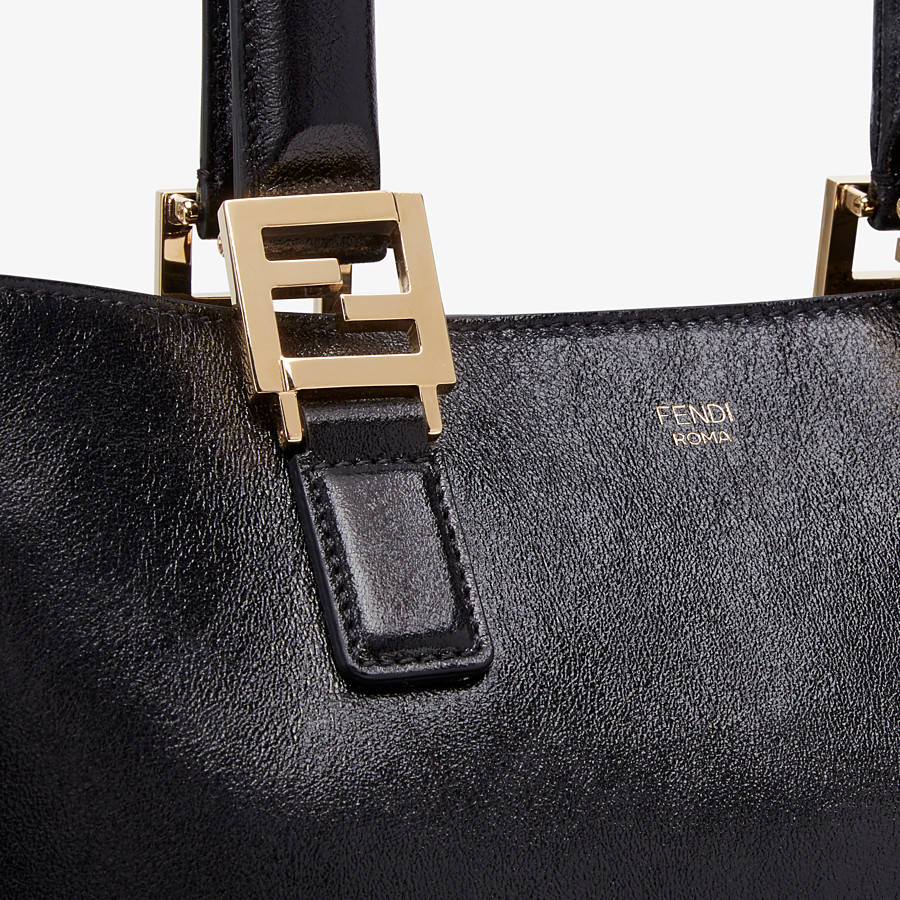 FENDI FF TOTE MEDIUM - Tasche aus Leder in Schwarz - view 6 detail