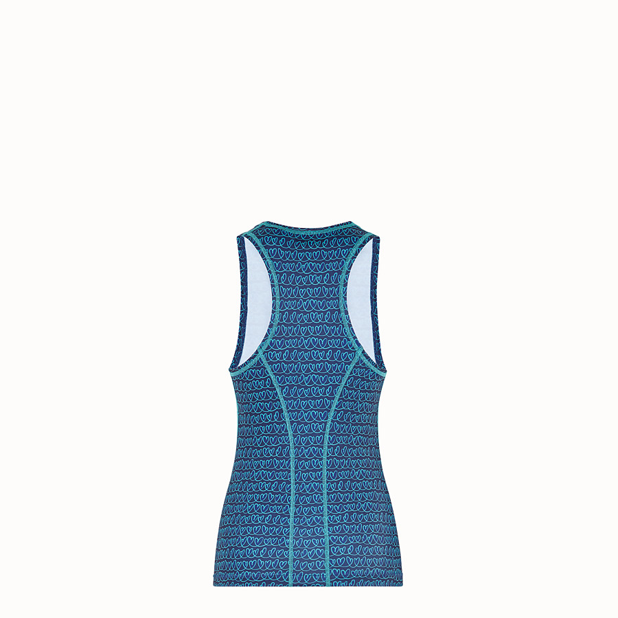 FENDI TANK TOP - Blue tech fabric top - view 2 detail
