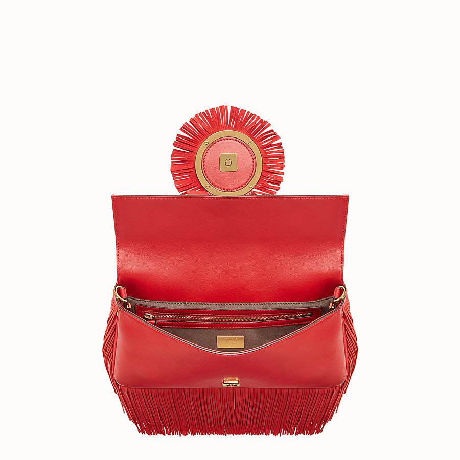 FENDI BAGUETTE - Red nappa bag - view 4 detail