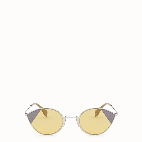 FENDI CUT-EYE - Silver-color sunglasses - view 1 small thumbnail
