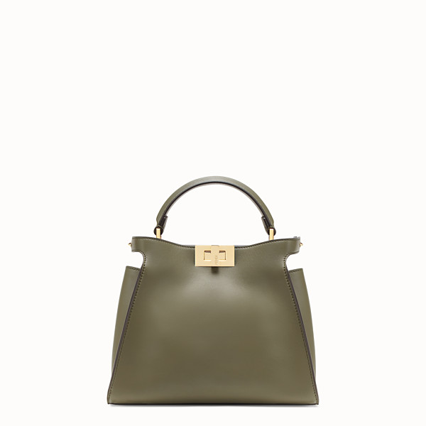 FENDI PEEKABOO ICONIC ESSENTIALLY - Green leather bag - view 1 small thumbnail