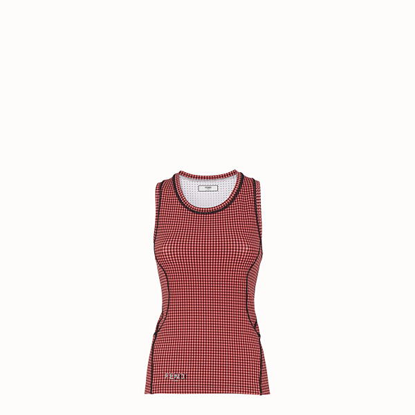 FENDI TANK TOP - Multicolor fabric top - view 1 small thumbnail