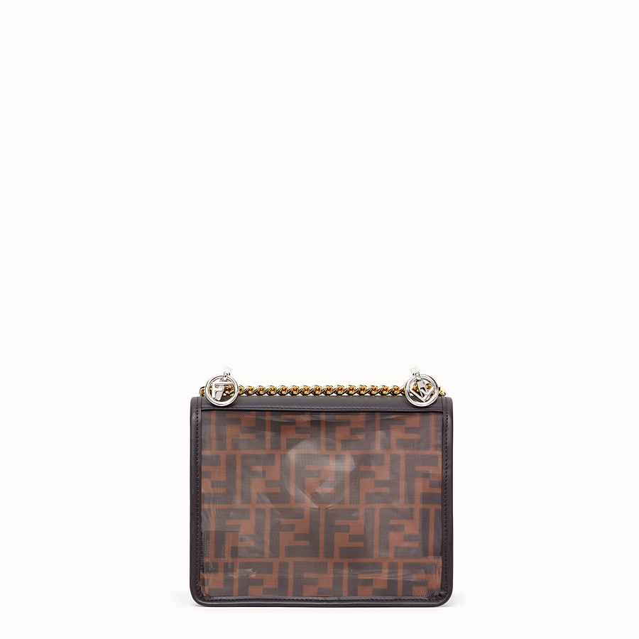 FENDI KAN I F SMALL - Brown tech mesh mini bag - view 4 detail