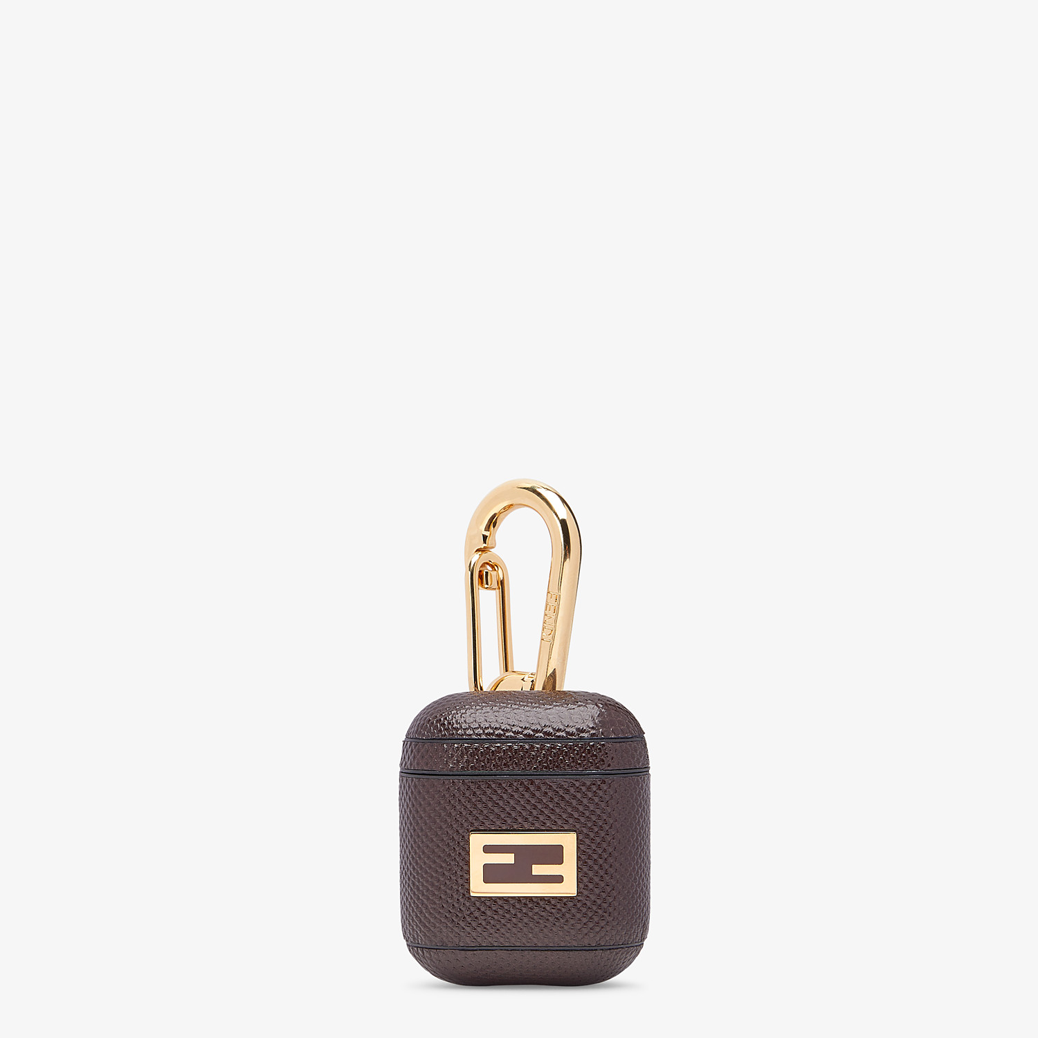 FENDI HEADPHONE HOLDER - Headphone holder in brown karung - view 1 detail
