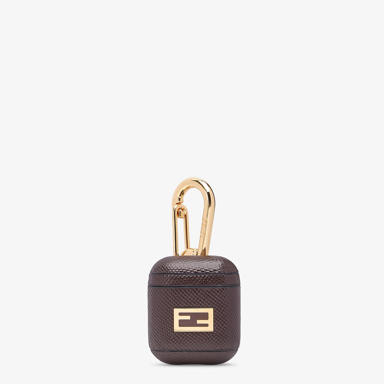 FENDI HEADPHONE HOLDER - Headphone holder in brown karung - view 1 detail