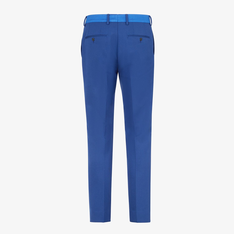 FENDI PANTS - Blue wool pants - view 2 detail